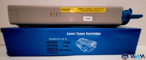 toner oki c3600 yellow